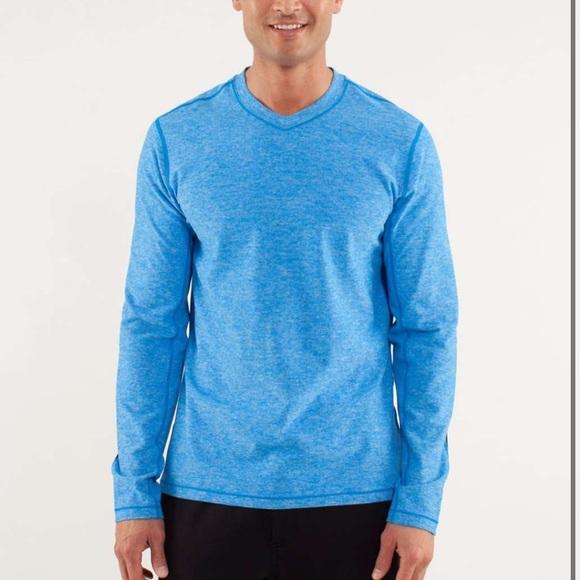 LULULEMON Men's Speed Long Sleeve Top- Blue